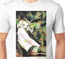 WOMAN in FUR - watercolor portrait Unisex T-Shirt
