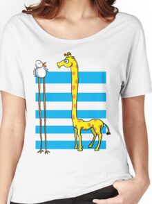 La girafe et l'oiseau Women's Relaxed Fit T-Shirt