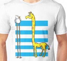 La girafe et l'oiseau Unisex T-Shirt