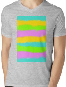 blue yellow pink and blue painting texture abstract background Mens V-Neck T-Shirt