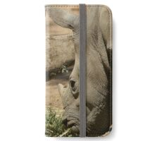 Father and baby rhino iPhone Wallet/Case/Skin