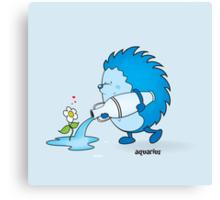 funny zodiac/aquarius Canvas Print