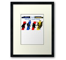 Select your Kaiju (Selection A) Framed Print