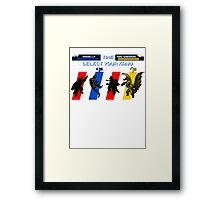 Select your Kaiju (Selection A) Framed Print