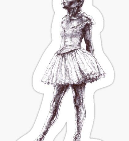 Little Dancer Ballpoint Pen Drawing Sticker