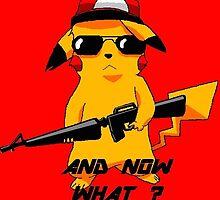 red pikachu by Thibchap