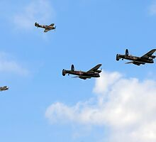 Battle of Britain Memorial Flight and Canadian Lancaster by © Steve H Clark Photography