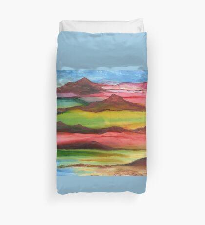 """Mountainscape"" - Original, Unique Artist's Design! Duvet Cover"
