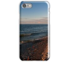 seashore with towering cliffs at dusk iPhone Case/Skin