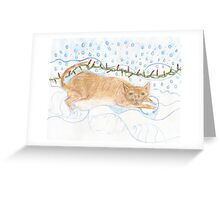 The Cat of Ice and Fire Greeting Card