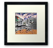 RanDumb(orbial noise) Framed Print