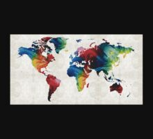 World Map 19 - Colorful Art By Sharon Cummings  Kids Clothes