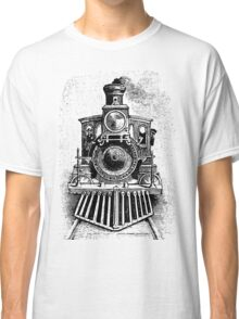 Vintage Locomotive Train - Front Facing Classic T-Shirt