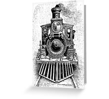 Vintage Locomotive Train - Front Facing Greeting Card