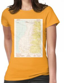 USGS TOPO Map California CA Willow Ranch 295809 1990 24000 geo Womens Fitted T-Shirt