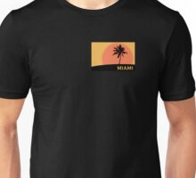 Miami Palm Tree Orange Unisex T-Shirt