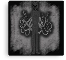 Spooky Slender Man with Tentacles Canvas Print
