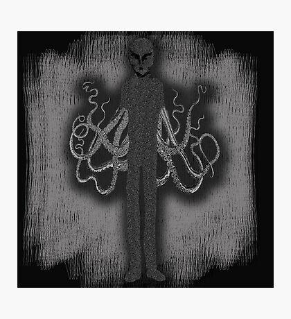 Spooky Slender Man with Tentacles Photographic Print