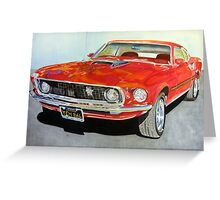 1969 ford mustang Greeting Card