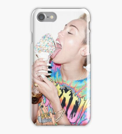 Miley Cyrus ice cream iPhone Case/Skin