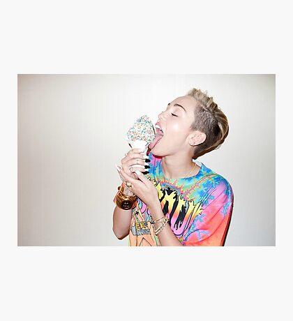 Miley Cyrus ice cream Photographic Print