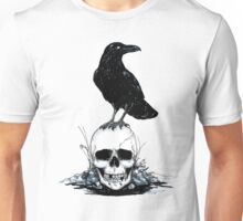 Inktober Skull and Raven Unisex T-Shirt