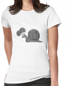 The Blooming Snail Womens Fitted T-Shirt