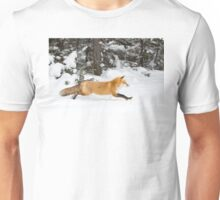 Red Fox on the run - Algonquin Park Unisex T-Shirt