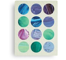 Aquatic Dots Canvas Print