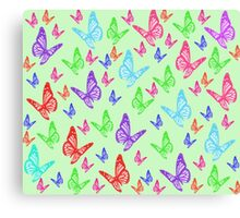 Rainbow Butterflies Canvas Print
