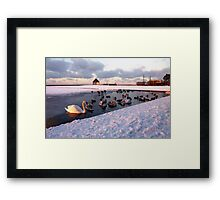 Snow Lake Framed Print
