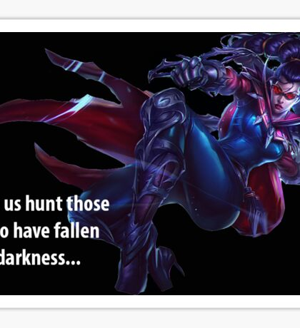 Vayne League of Legends Sticker