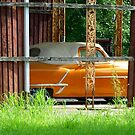 Old Orange Car by WildestArt