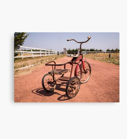 Rusty Tricycle Canvas Print