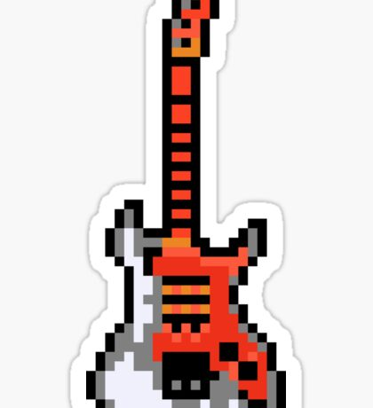Cool Electric Guitar - Pixels Sticker