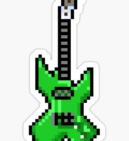 Green Electric Guitar - Pixels Sticker