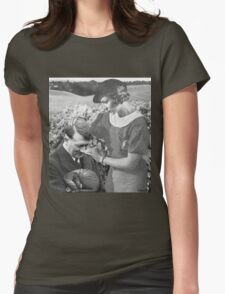 motherly love, retro collage Womens Fitted T-Shirt