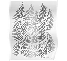 Silver Fronds Poster