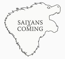 Saiyans Are Coming Kids Clothes