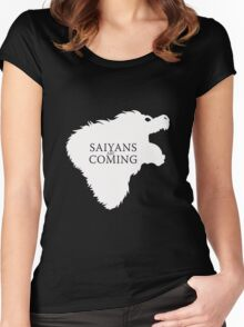 Saiyans Are Coming Women's Fitted Scoop T-Shirt