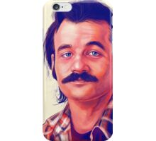 Young Bill Murray mustache digital painting  iPhone Case/Skin