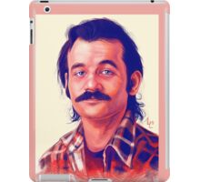 Young Bill Murray mustache digital painting  iPad Case/Skin