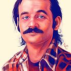 Young Bill Murray mustache digital painting  by Thubakabra