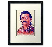 Young Bill Murray mustache digital painting  Framed Print