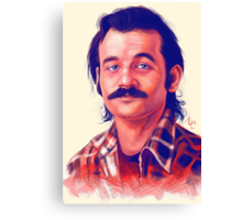 Young Bill Murray mustache digital painting  Canvas Print