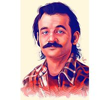 Young Bill Murray mustache digital painting  Photographic Print