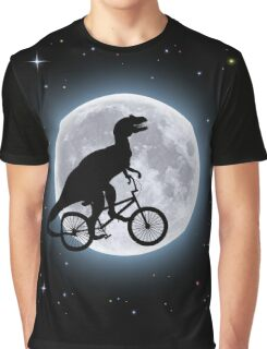 Dinosaur Moon Graphic T-Shirt