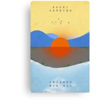 KAUAI Modified Text Canvas Print