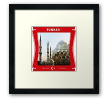 Turkey - Turks Call It Turkiye Framed Print