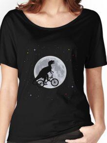 Dinosaur Moon Women's Relaxed Fit T-Shirt